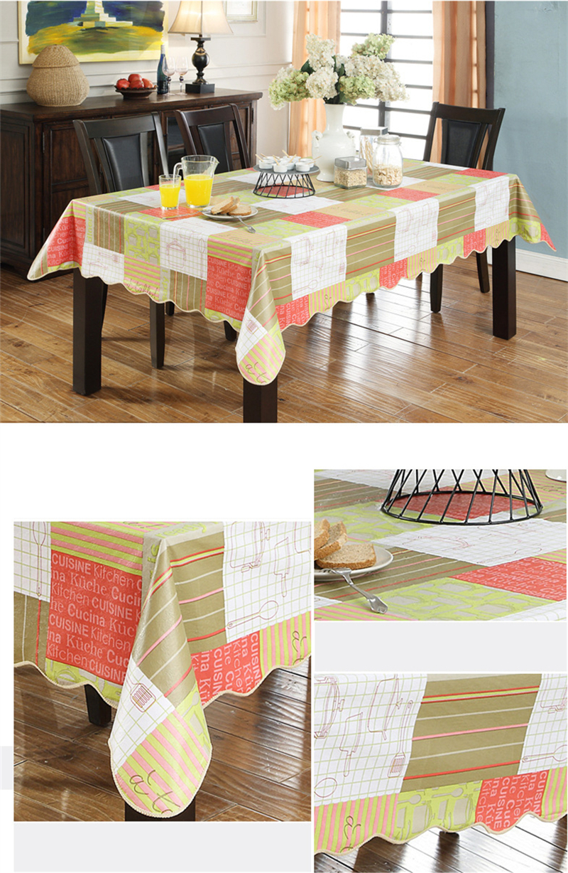 8 Types Simple Plaid Waterproof PVC Plastic Tablecloth For Table Oilproof Fabric Retangle Tea Table Cover Hotel & Home Decor