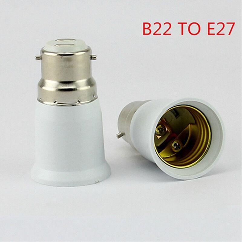 LumiParty B22 to E27 Light Lamp Bulb Socket Base Converter Edison Screw to Bayonet Cap Fireproof Holder Adapter Converter Socket