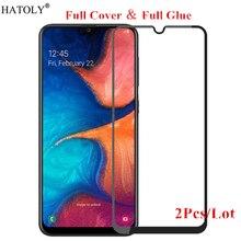 цена на 2Pcs For Samsung Galaxy A20 Glass Tempered Glass for Samsung Galaxy A20 Film Full Glue Screen Protector for Samsung Galaxy A20