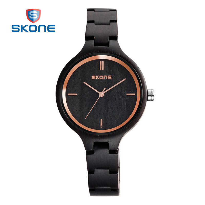 SKONE Fashion Wood Dress Watches Women Luxury Brand Ladies Wooden Quartz Wrist Watch Clock Relogio Feminino Montre Femme Hodinky newly design dress ladies watches women leather analog clock women hour quartz wrist watch montre femme saat erkekler hot sale