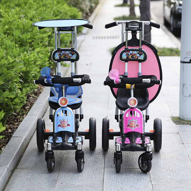 Buggiest child stroller four wheel baby stroller dual shook his car