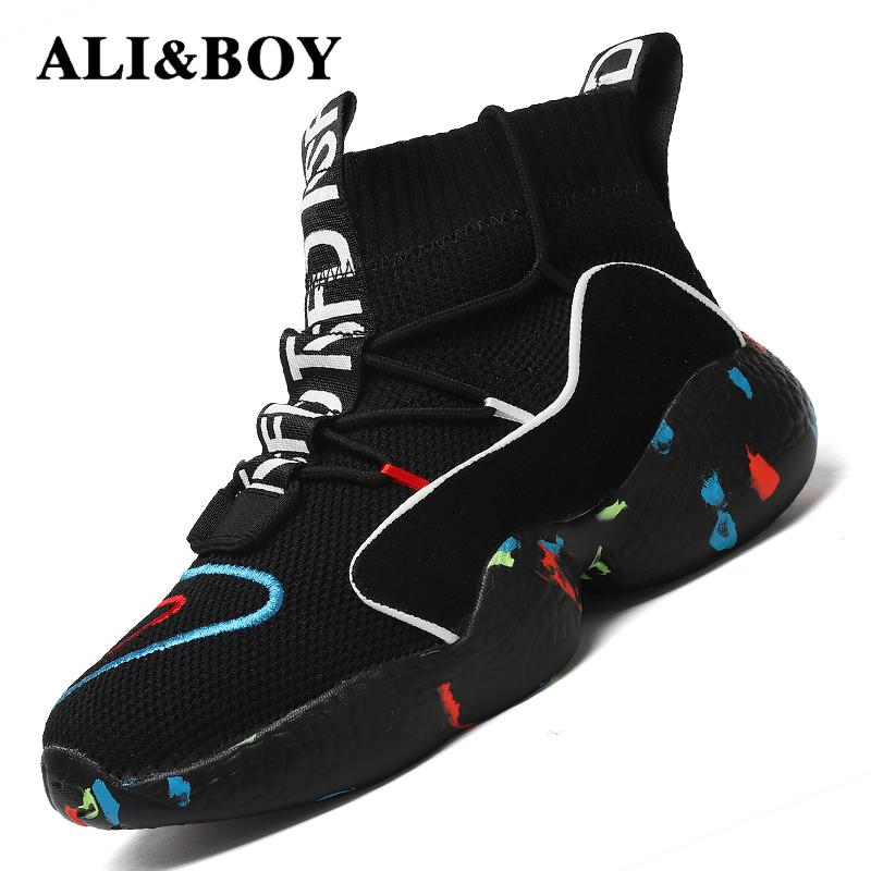 High Top Running Shoes For Men Women Ankle Boots Thermal Winter Shoes Women Men Fur Lining Sport Shoes Athletic Male Sneakers(China)