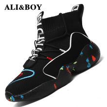Высокие спортивная обувь для мужчин женские ботильоны теплая зимняя обувь для женщин мужчин меховая подкладка спортивная обувь мужские кроссовки 9908