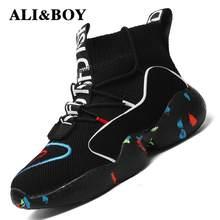 02e77131 Высокие спортивная обувь для мужчин женские ботильоны теплая зимняя обувь  для женщин мужчин меховая подкладка спортивная