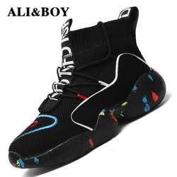 Высокие спортивная обувь для мужчин женские ботильоны теплая зимняя обувь для женщин мужчин меховая подкладка спортивная обувь мужские