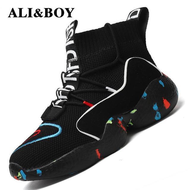 Yüksek Üst koşu ayakkabıları Için Erkek Kadın yarım çizmeler Termal Kış Ayakkabı Kadın Erkek Kürk Astar spor ayakkabılar Atletik Erkek Sneakers