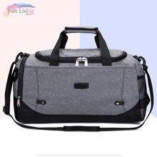 Men's Sports Bag Gym Bags Fitness Large Capacity Travel Backpack Duffle Hand Luggage Bag Waterproof Multifunctional Weekend Bag
