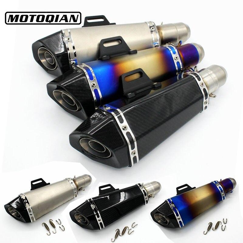 Motorcycle 51mm Modified Exhaust Pipe Muffler Universal GP Escape Pipe For Yamaha YZF R1 R3 R6 R25 FZ1 FZ6 FAZER FZ6R FZ8 FZ07