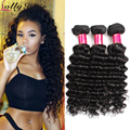 Lolly Hair Products Brazilian Deep Wave 7A Indian Virgin Hair Bundle Deals 3 pcs Unprocessed Virgin Indian Hair Extension