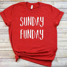 sunday funday tshirt womens tops 2019 graphic shirts vintage korean clothes white top casual o-neck aesthetic