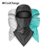 Coolchange tecido de gelo boné de bicicleta anti-uv pára-sol bicicleta máscara facial headwear ciclismo bandana máscara facial chapéu de pesca esportes cachecol