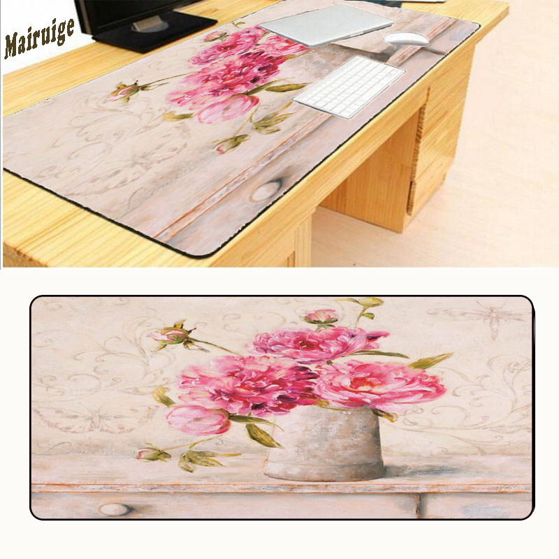 Mairuige Flower 900*400*2mm Original Design Computer Speed Mouse Pads Hot Gaming Mouse Pad Rubber Gamer Soft Comfort Mouse Mat
