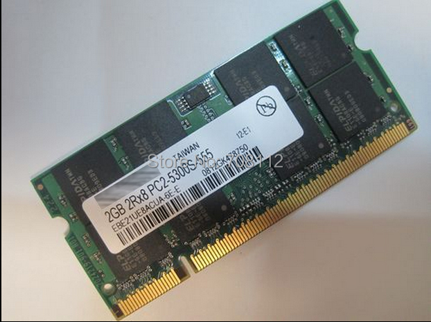 SO DIMM DDR2 2GB 667MHz SO-DIMM PC2-5300S Notebook Memory 2R*8 EBE21UE8ACUA-6E-E