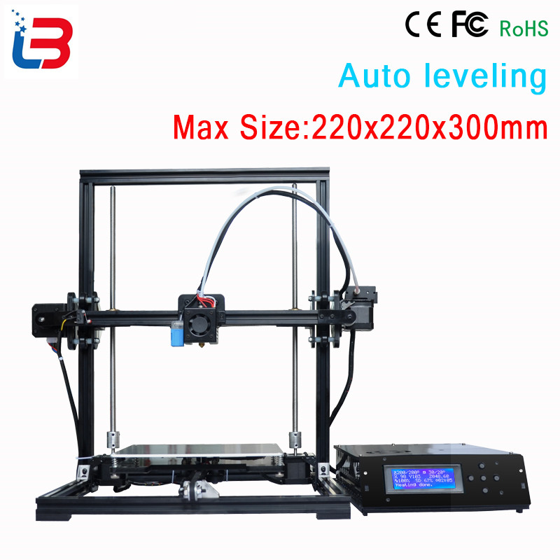 New design DIY Tronxy 3D Printer Metal frame bowden extruder large print size 220x220x300mm LCD control box 8GB SD card&PLA free 2017 new large printing size 3d printer kit metal frame printer 3d for sale with two rolls filament sd card