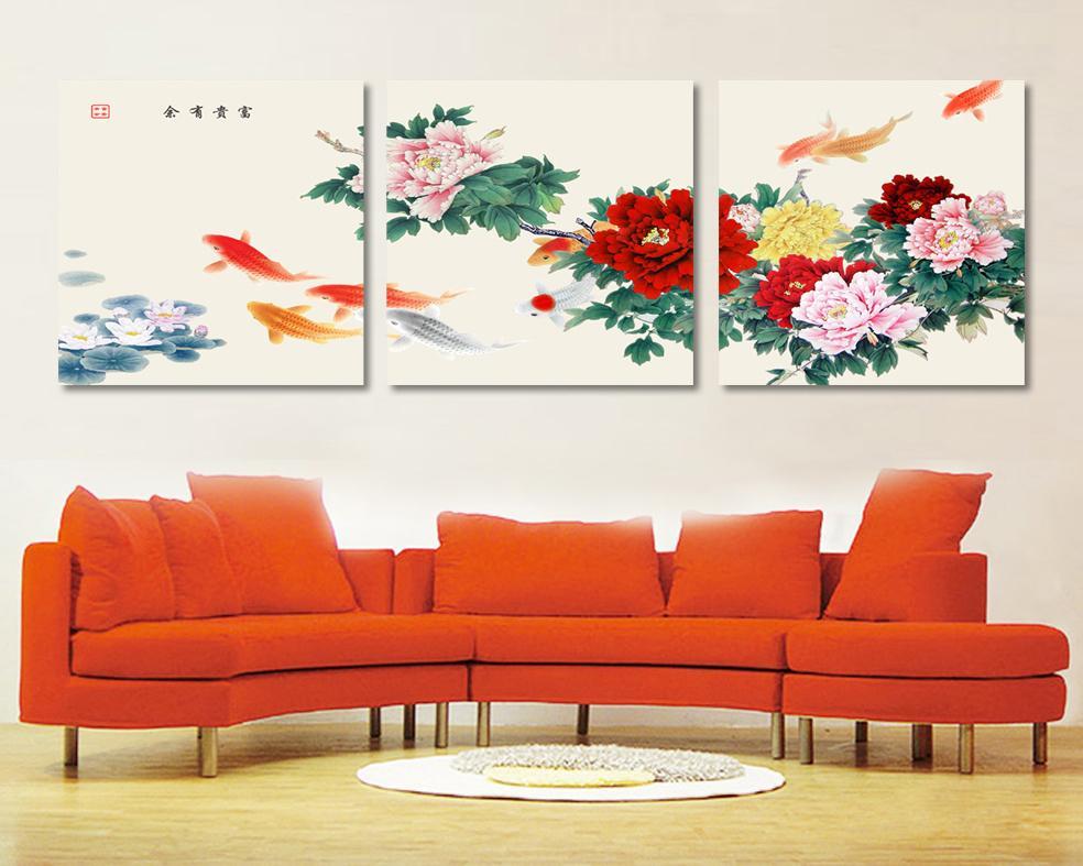 koi canvas wall art - Cheap Canvas Wall Art