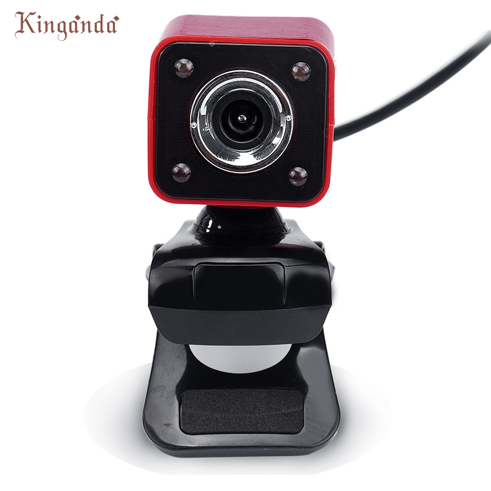 Ecosin2 12.0M Pixels USB 2.0 0.3MP 4 LED HD Webcam Web Cam Camera with MIC for Laptop Co ...