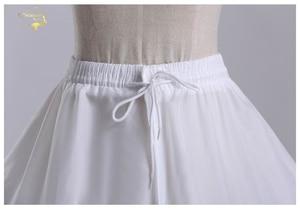 Image 4 - Nowa hurtownia szeroki 4 obręcze 1 warstwa tiul halka do sukni balowej krynolina podkoszulek akcesoria ślubne Jupon Mariage CW01299