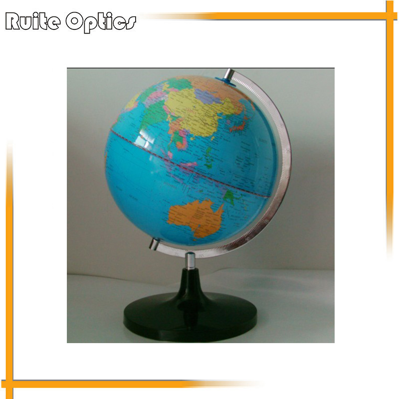 Dia 25cm PVC World Earth Terrestrial Globe Tellurion With Metal Mount For Teaching earth 2 world s end vol 1
