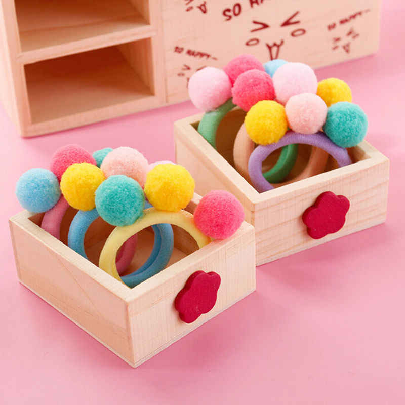 Mix Colors Baby Girls Kid Elastic Hair Ties Bands Rope Ponytail Holders Headband Cute Balls Hair Rope