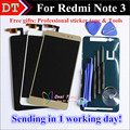 High Quality LCD Display+Digitizer Touch Screen Assembly For Hongmi Redmi Note 3 1920*1080 Black White Gold  Color