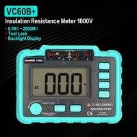 VC60B+ 1000V Digital Auto Range Insulation Resistance Meter Tester Megohmmeter Megger High Voltage LED Indication 1999 Counts