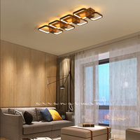 Modern Acrylic LED Ceiling Chandelier Living Room Overlap Large Deluxe Remote Control Chandelier Living Restaurant Lighting
