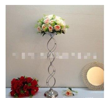 Труба ваза, свадебные реквизит с серебряным покрытием T Тайвань дорога цитируется основной Настольная Ваза Цветочная композиция