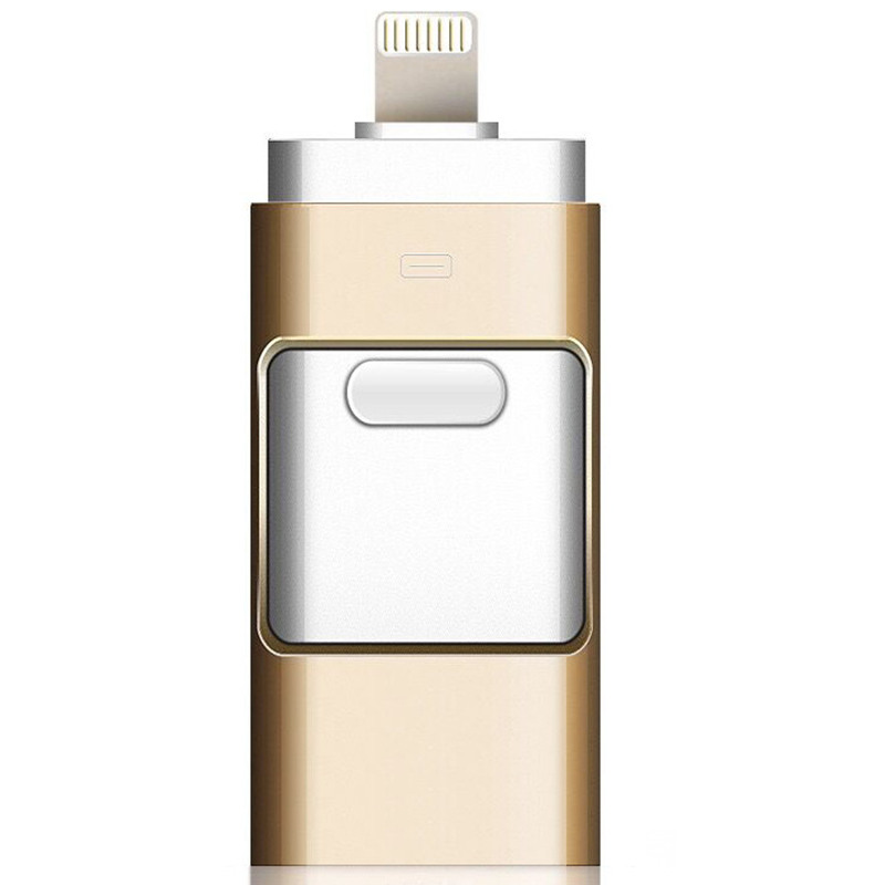 Eaget 3 in 1 OTG USB Flash Drive 32GB 64Gb Pendrive 64GB Pen drive flash drive 32gb USB 8gb Metal cle USB Stick For iPhone iPad стоимость
