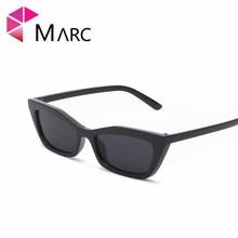 MARC 100%UV400 WOMEN MEN 2018NEW Brand Small Eyewear Rectangle Cat eye Design Red Trendy Sunglasses Gafas Oculos Plastic Resin