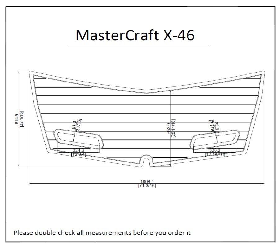 2014 Mastercraft X 46 Boat Swim Platform Pads 1 4 Quot 6mm Eva