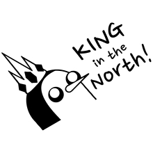 15*10.8cm Funny Personality Stickers Adventure Gunter King In The North Vinyl Car Window Laptop Decal Sticker