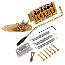 Gold Guitar Tremolo Bridge Arm Springs with Boat Jack Socket Set for Fender ST Electric Guitar Parts Accessories silver metal electric guitar tremolo arm tension spring musical instrument parts diy accessories
