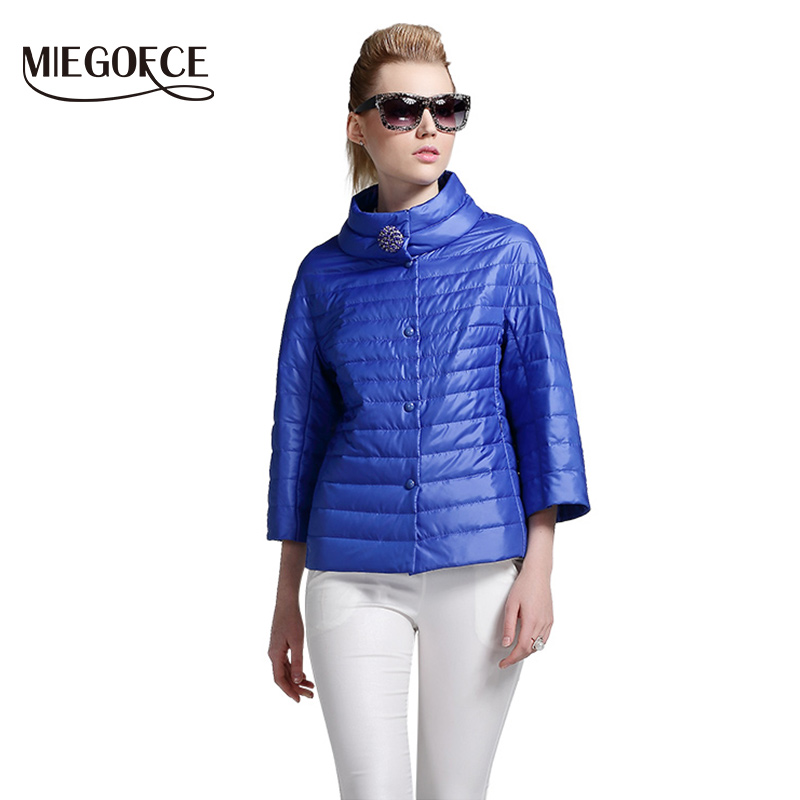 MIEGOFCE 2019 New Spring Short Jacket Women Fashion Coat Padded Cotton Jacket Outwear High Quality Warm   Parka   Women's Clothing