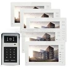 DIYSECUR 7inch 1024 x 600 HD TFT LCD Screen Video Door Phone Video Intercom Doorbell RFID Reader + Password HD Touch Camera 1V5