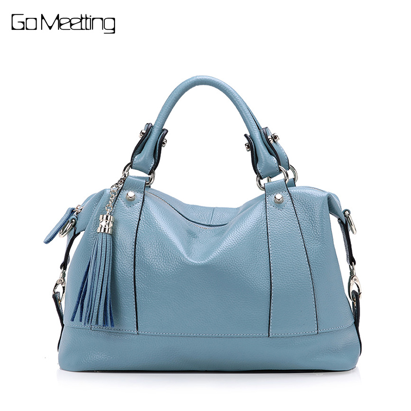 Go Meetting Brand Designer Tassel Women Handbag Genuine Leather Shoulder Crossbody Bags Messenger Real Leather Bag Satchel Tote cobbler legend brand tassel tote bag genuine leather handbag women shoulder bag female real leather messenger bags tassen