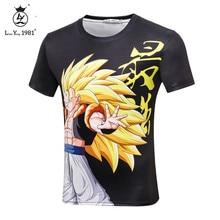 Newest Dragon Ball T shirt Youth Men Boy Tee Shirt Homme Anime Comic Casual Brand  3D Super Saiyan Son Goku Black Vegeta T-shirt