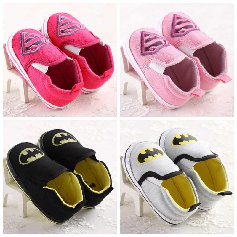 2019 New Baby Infant Superman Batman Shoes Soft 0-18M Boys Girls Casual Shoes Fashion Shoes Spring Autumn Baby First Walkers DS9