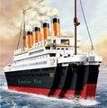 Sluban bloques de construcción de juguete barco de cruceros RMS Titanic barco de la nave modelo 3D regalo educativo del juguete para los niños Compatible legoe 1021 unids