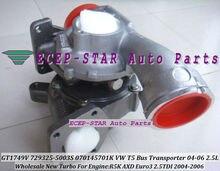 Free Ship GT1749V 729325 729325-5003S 729325-5002S 070145701K Turbo For VOLKSWAGEN VW Bus Transporter T5 04-06 R5K AXD 2.5L TDI