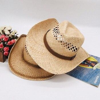 eca29c5d Sombreros para Hombre Sombrero de vaquero occidental gorra de equitación de  verano sombreros de vaquero para Hombre Sombrero de vaquero para Hombre