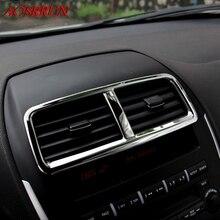 Нержавеющая сталь Автомобильный Центр кондиционер крышка наклейка s автомобильные аксессуары 3D наклейка для Mitsubishi ASX 2010 2011 2012 2013