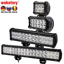 Weketory 4 7 12 17 inch 18 w 36 w 72 w 108 w LED Verlichting LED Light Bar voor Motorfiets Trekker Boot Off Road 4WD 4x4 Truck SUV ATV(China)