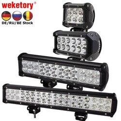 Weketory 4 7 12 17 дюймов 18 Вт 36 Вт 72 Вт 108 Вт светодио дный свет работы светодио дный бар свет для мотоцикла тягач Boat Off Road 4WD 4x4 грузовик внедорожник ATV