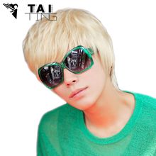 Drag Queen Wigs Mens Boys New Trendy Short Straight Platinum Blonde Wig Cosplay Party Costume Perruque Halloween Hair
