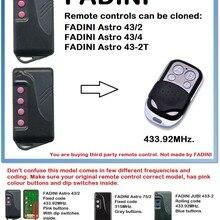 FADINI Astro 43/2, 43/4 универсальный пульт дистанционного управления Управление Дубликатор duplo и 4-канальный 433,92 МГц.(Только для 433,92 передатчик УКВ-диапазона(код