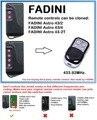 FADINI Astro 43/2  43/4 Универсальный дубликатор дистанционного управления 4-канальный 433 92 МГц. (Только для фиксированного кода 433 92 МГц)