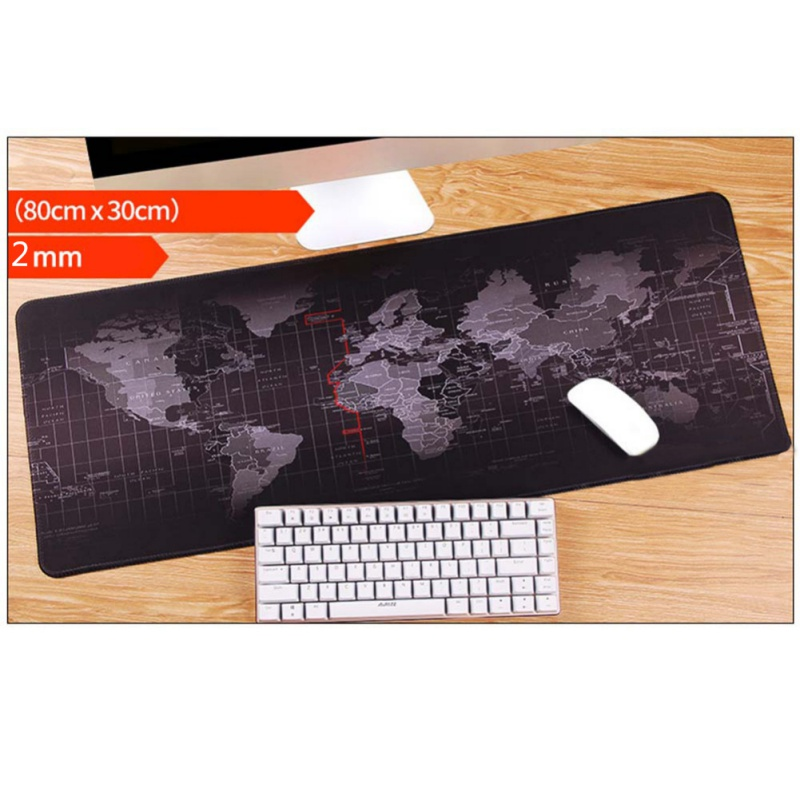Ultra Big Rubber Mouse Pad World Map 24 Time Zone Pattern Mousepad for Office Desk Notebook Gaming