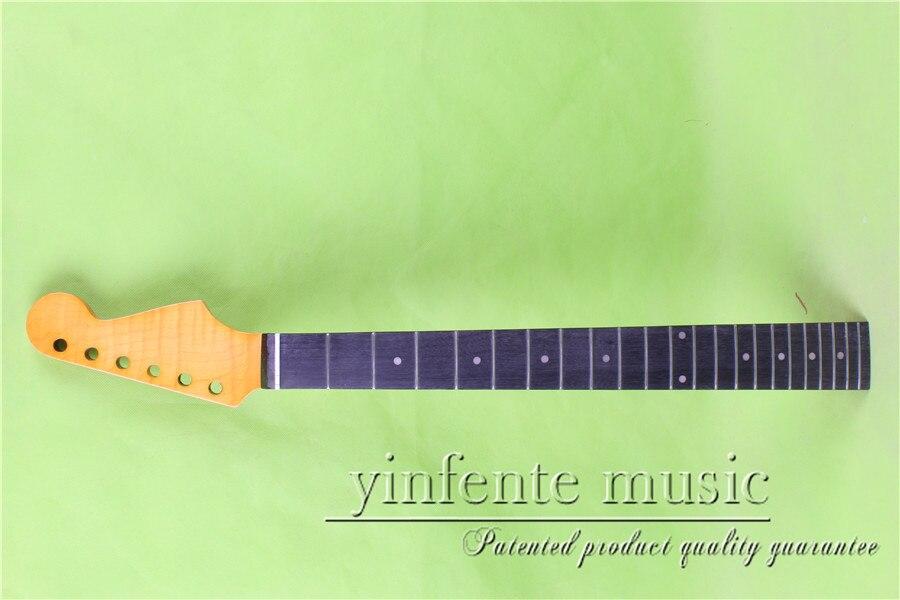 L 00162 #25.5 желтый Электрический Гитары шеи пламя клена сделал прекрасное качество негр гриф 22 лада