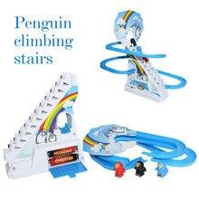 Пингвин подъем по ступенькам трек игрушки Классический Электрический Музыкальный Мультфильм трек игрушки Забавный подарок на день рождения игрушки для детей