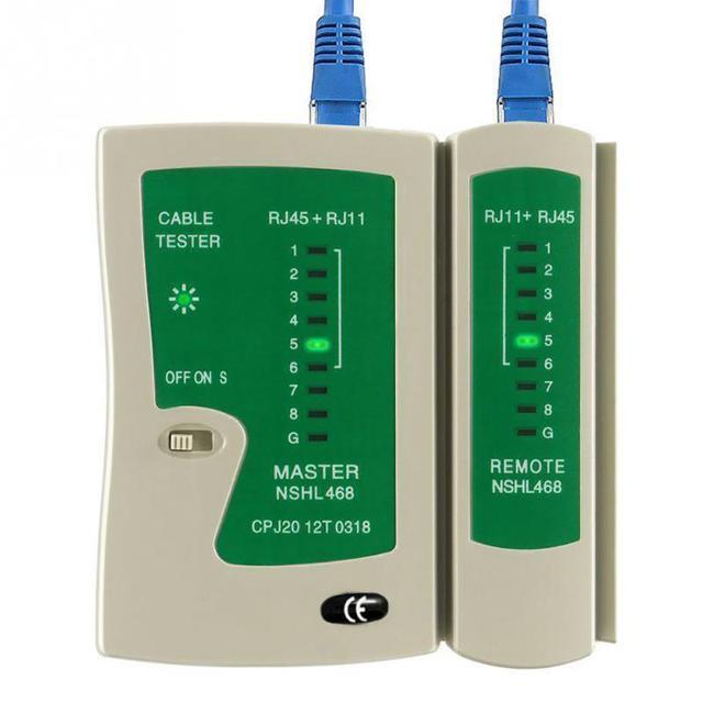 専門家のネットワークケーブルテスター RJ45 RJ11 UTP LAN ケーブルテスターハンドヘルドワイヤー電話回線検出器